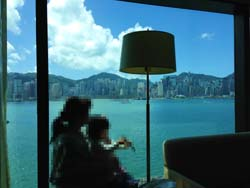 香港ホテル景色 母子