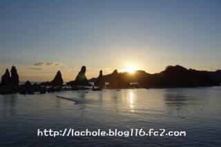 橋杭岩からの日の出