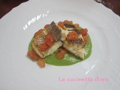 魚とブロッコリーソース