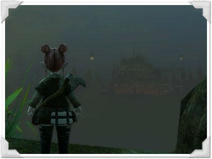 不夜城ウルダハを眺めて