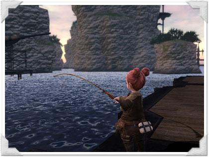 リムサロミンサで釣りに挑戦!