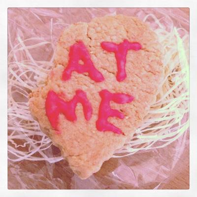 at me