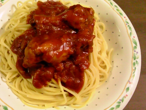 チキンカレースパゲッティ