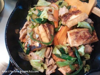 野菜たっぷり厚揚げチャンプルー