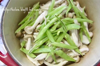 タラと野菜のロンド蒸し~蒸す前~