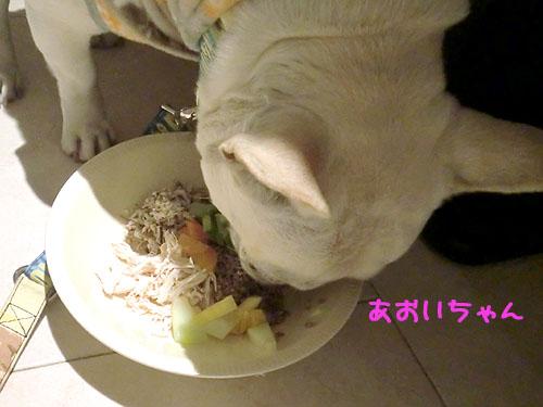 珍しくいっぱい食べてます