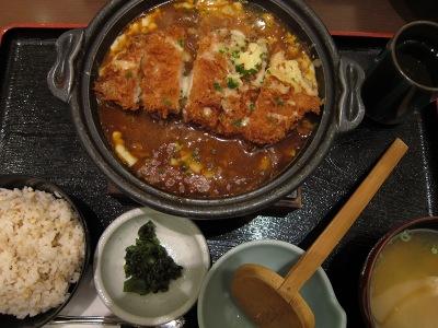 20101213_カレー鍋御膳1