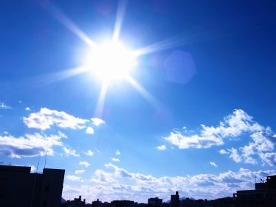 20110117_青空と太陽