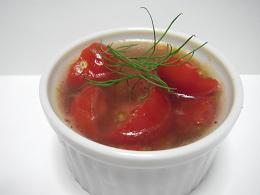 トマトのゼリーよせ(平坦)