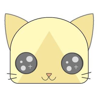 アイルー顔(瞳がキラキラ)