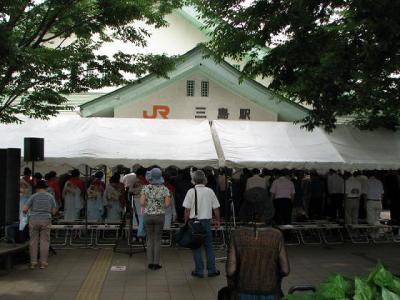 三島駅開山式全体