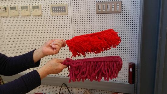 毛糸で作ったモップです~♪