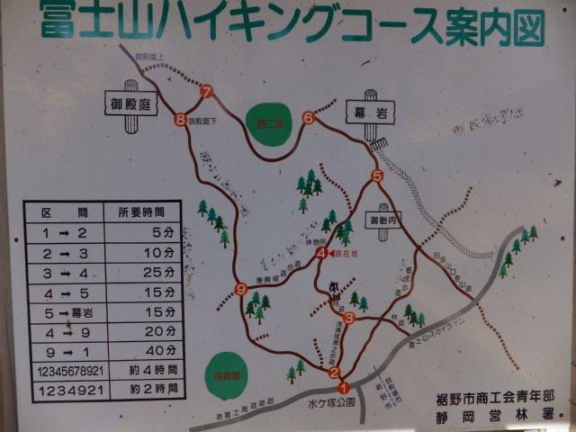 須山口登山歩道 地図