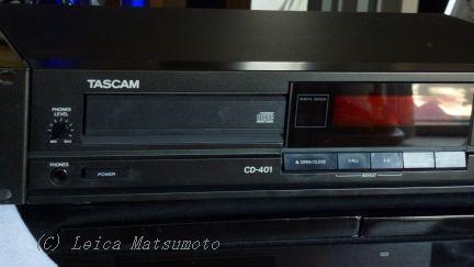 セカンドシステムの現用機 TASCAM CD-401