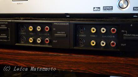 プロセッサー入出力端子を前面に装備
