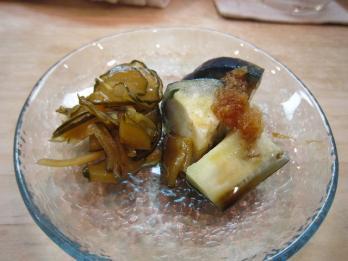 胡瓜と水茄子