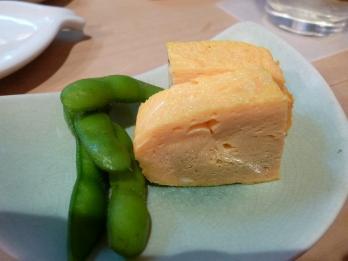 玉子と枝豆