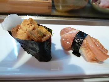 イカ海胆と赤貝ヒモ