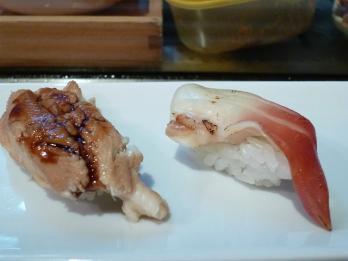 穴子とホッキ貝