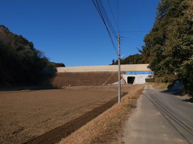 盛土がされている長南町竹林付近。