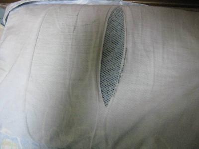 ぞうの枕カバーが破れてきました