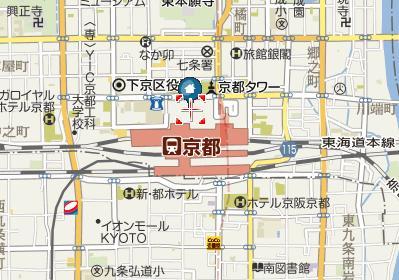 京都駅ビル地図