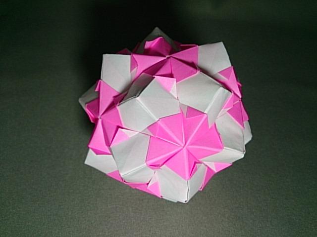 ハート 折り紙:ユニット折り紙くす玉-mainitiuniuni.blog.fc2.com