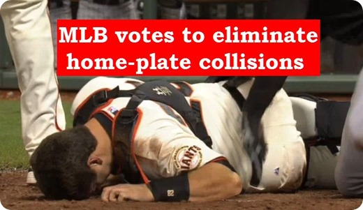 Home plate collisions no