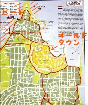 ロードス島地図