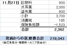 Nov27診療費