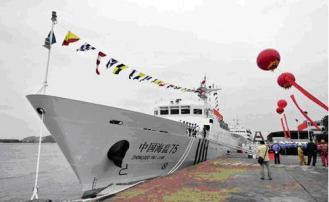 """24413 """"海#30417;75""""号是2010年服役的新型海#30417;船,排水量1290#21544;。("""