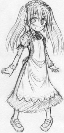 メイド服の女の子