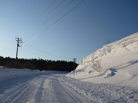 雪積もりの焼走り05(2012.2.2)