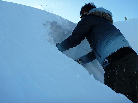 雪積もりの焼走り17(2012.2.2)