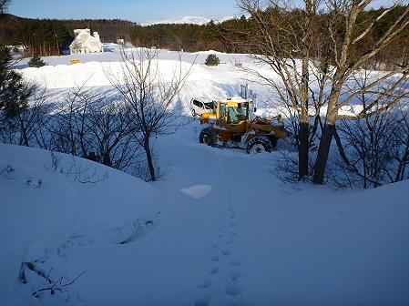 雪積もりの焼走り21(2012.2.2)