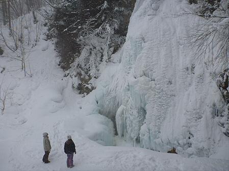 七滝氷瀑比較01(2012.2.12)