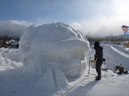 八幡平・安比ゆきフェスティバル準備様子05(2012.2.16)
