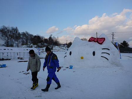 八幡平・安比ゆきフェスティバル準備様子04(2012.2.17)