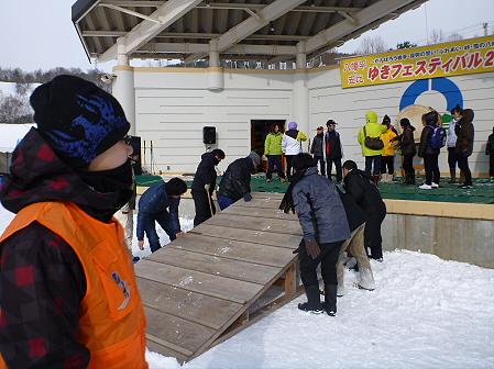 八幡平・安比ゆきフェスティバル準備様子02(2012.2.18)