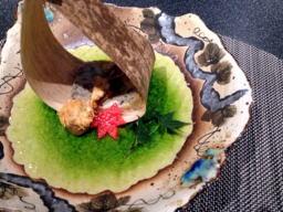 秋らしいオードブル、ウチではこんな素敵なお料理出てきませんよ~