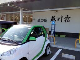 国道1号線沿い、岡崎市内にある道の駅藤川宿