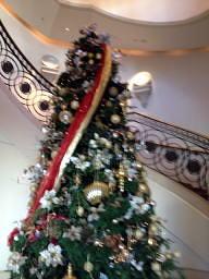 螺旋階段には毎年ツリーが飾られてます