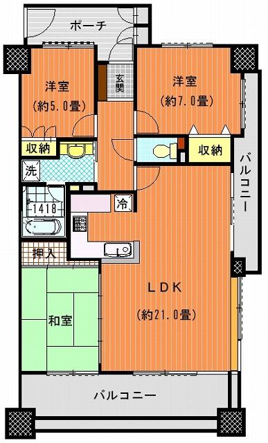 サーパスサンポート高松ベイタワー806間取り図