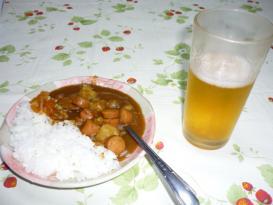 ビール&カレー