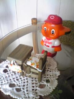 ミニ家具とカープさとうちゃん