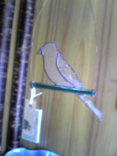 ステンドグラス鳥