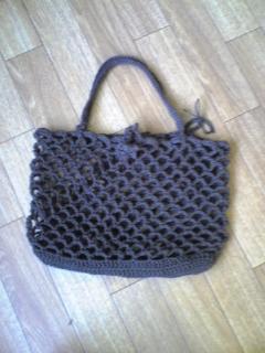 鎖編みバッグ