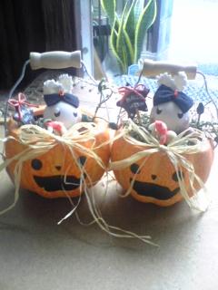 ハロウィンかぼちゃうさぎ