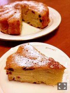 りんごとレムレーズンのケーキ2
