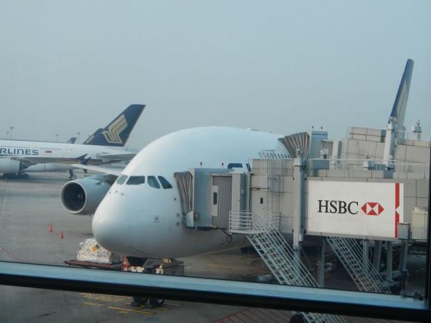 シンガポールツアー機内(帰り) (2)